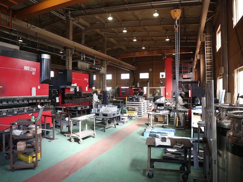 材料手配から加工、組み立て、塗装まで徹底した品質管理