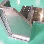 食品機械 アルミ A2024 エアーリンサー ブラケット製作